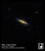 March 2015 - M82 - Cigar Galaxy taken in the OAJ with JAST/T80 telescope and T80Cam camera