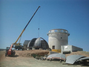 July 2013 - Assembly of JST/T250 dome