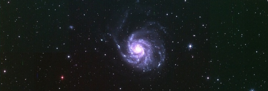 T80Cam first light image of the spiral galaxy M101.